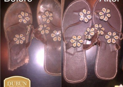 Slops / Sandals Leather Repairs